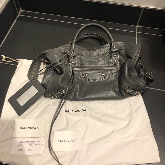 Balenciaga Handbags - Balenciaga City Metallic Edge